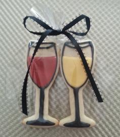 Wijnglas uitsteker metaal Ann Clark