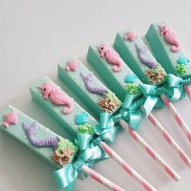 Cakepop lollipop mold -  3 delige acetaat chocolade mal