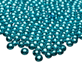 Metallic blue small choco pearls - Happy Sprinkles