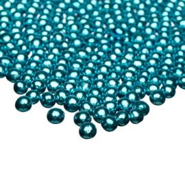 Metallic blue -  small- Chocolade parels - Happy Sprinkles
