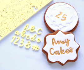 Sweet Stamp COOKIE  full set Upper & Lowercase, Numbers & Symbols
