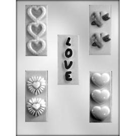 Love & hearts Chocolade reepjes chocolade mal