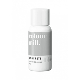 CONCRETE / zilverkleurig Colour Mill oil based food colouring