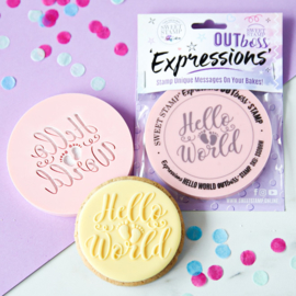 Hello World  Sweetstamp OUTboss Expressions / koek & cupcake stempel