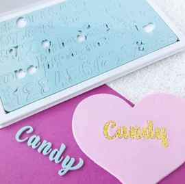CANDY full set en opbergbox Upper & Lowercase Numbers  & Symbols SweetStamp