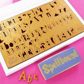 Medium SpellBound full set  Upper & Lowercase Numbers  & Symbols SweetStamp