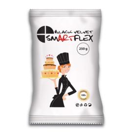 Zwarte SmartFlex Velvet Rolfondant met vanille smaak 250 Gram