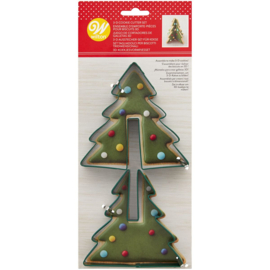 Wilton - 3D cookie cutter tree set/2 - 3d kerstboom uitsteker