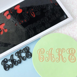 Monograms by Evil cake Genius in opbergbox Uppercase SweetStamp
