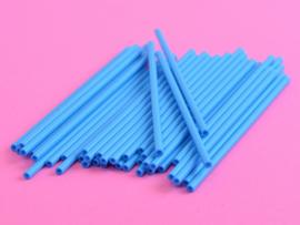 Blauwe  lolliestokjes 15 cm lang 25 stuks