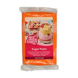 Tiger orange Funcakes Rolfondant - 250 Gram