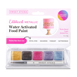 Unicorn  mini palette Water Activated Edible Art Paint