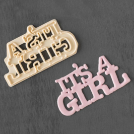 It's  a girl fondant uitsteker