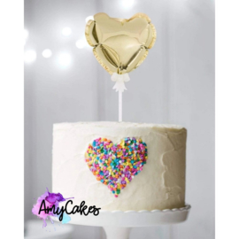 Self inflating Heart balloon cake topper-Sweet Stamp