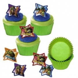 280805 Teenage Mutant Ninja Turtles Decoratie ringen 4/pk