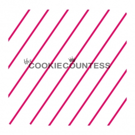 Cookie Countess Diagonal Thin Stripe Stencil