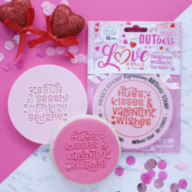 """Hugs, Kisses & Valentine Wishes "" Outboss Valentine Sweetstamp"