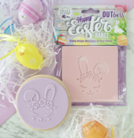 ROSE CROWN BUNNY - Outboss -EASTER- Sweetstamp