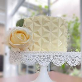 Origami Mini Estrelar Textuur chocolade mat voor om een taart