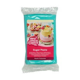Mystic turquoise Funcakes Rolfondant   250 Gram
