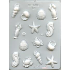 Hitte bestendige mal om eetbare zee dieren en schelpen te maken