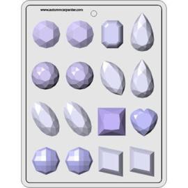 Eetbare diamanten Large maken met deze hitte bestendige mal
