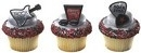 Rock On Gitaar Cupcake Ringen 6/pk