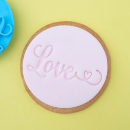 LOVE Cookie/ Cupcake embosser