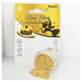 Goud bling bling eetbare glitters magic colours