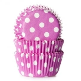 Pink Polka Dot Mini Baking Cups 60/Pk