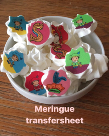 SINTERKLAAS  Meringue stempel sheet / Sugar stamp