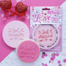"""JUST MARRIED "" Outboss Valentine Sweetstamp"