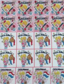 080000 Frosting Sheet met 24 GESLAAGD afbeeldingen meisje
