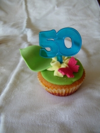 Cupcake Toppers 50 Blauw 6/Pk