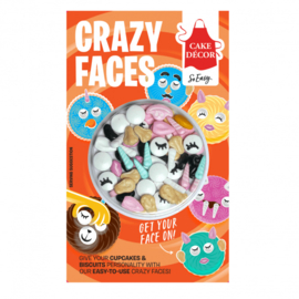 Crazy Face Toppers mix Cake Decor