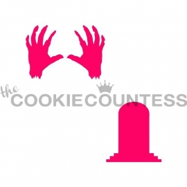 333111 Cookie Countess Zombie Hands and Tombstone Stencil