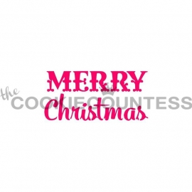330201 Cookie Countess Merry Christmas Stencil
