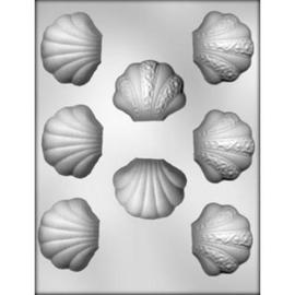 3D schelp met decoratie Chocolade mal