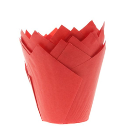 HOM Tulip muffin cups Rood