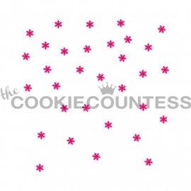 Cookie Countess Falling Snow Stencil