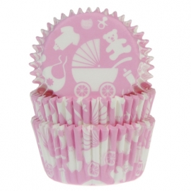 BABY ROZE NEW BORN cupcake baking cups HOUSE OF MARIE  50/ pk
