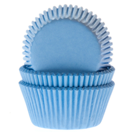 1241 House of Marie Baking cups Licht  Blauw/ sky blue 50/PK