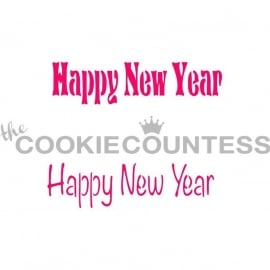 330201 Cookie Countess Happy New Year Stencil