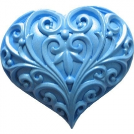 Decoratie hart silicone mal Filigree Heart First Impression Mold