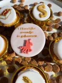 Het heerlijke avondje is gekomen - Sinterklaas fondant stempel - PartyStamp - Outbosser