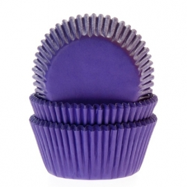 4650 HOM Baking Cups purple 50/PK