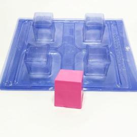 Blokjes / Cube mal -  3 componenten acetaat chocolade mal -
