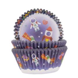 Ruimte thema cupcake baking cups House of Marie