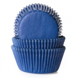 1524 House Of Marie Baking Cups Jeans Blauw 50/Pk
