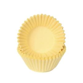 Pastel geel-Mini Cupcake cups-chocolade- petite four-House Of Marie 100/pk